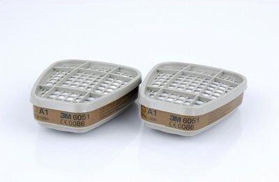 3М Фильтр для защиты от газов и паров 6051, А1
